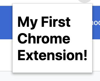 Chrome extension screenshot